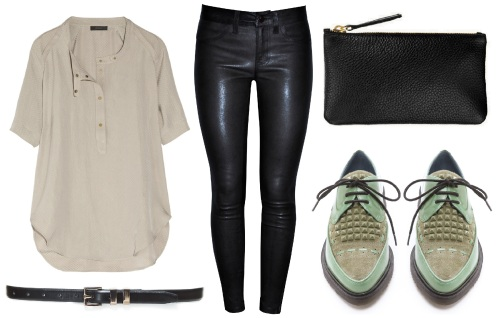 J Brand Leather Noir Styling 2