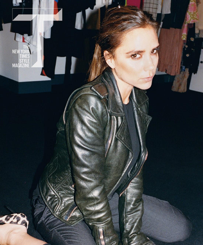 Leather jacket victoria - Victoria Beckham Green Leather Jacket